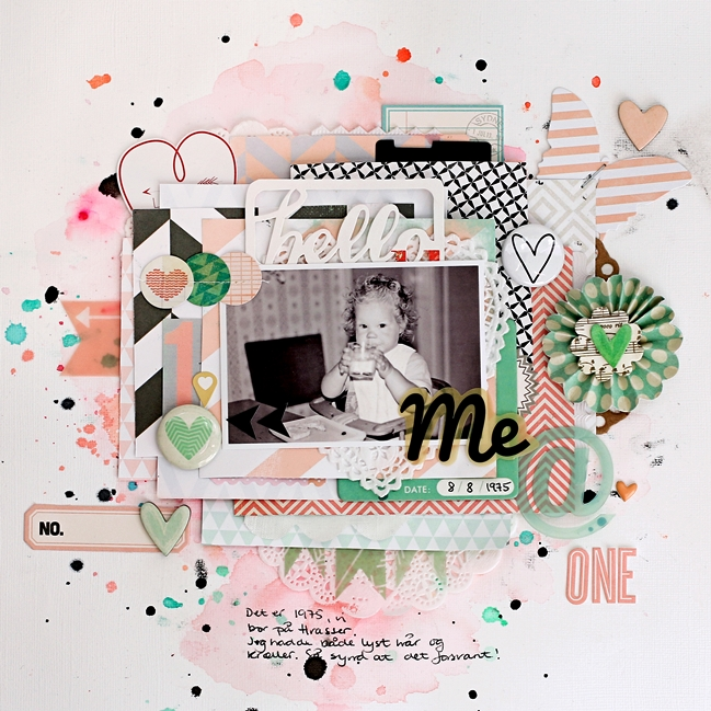 scrapbooking with mist or ink by Christin Goslett @ shimelle.com