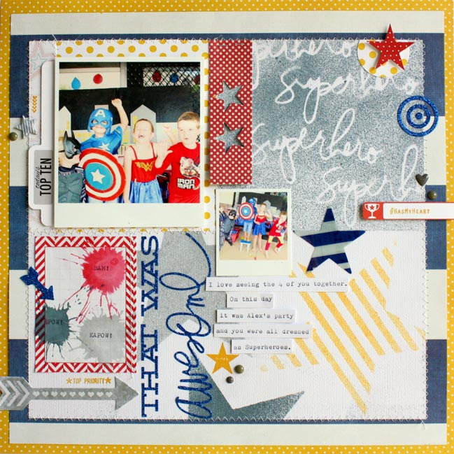 scrapbooking with mist or ink by Kim Jeffreys @ shimelle.com
