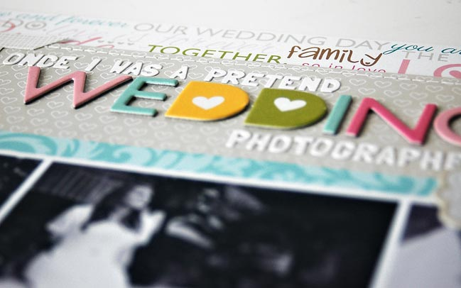 scrapbooking wedding pages @ shimelle.com