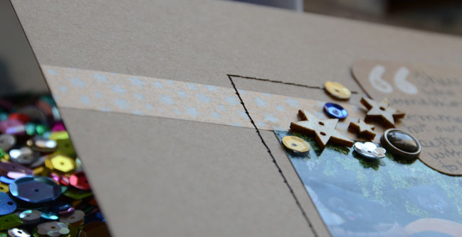 scrapbooking without a hint of patterned paper:: a scrapbooking tutorial by may flaum @ shimelle.com
