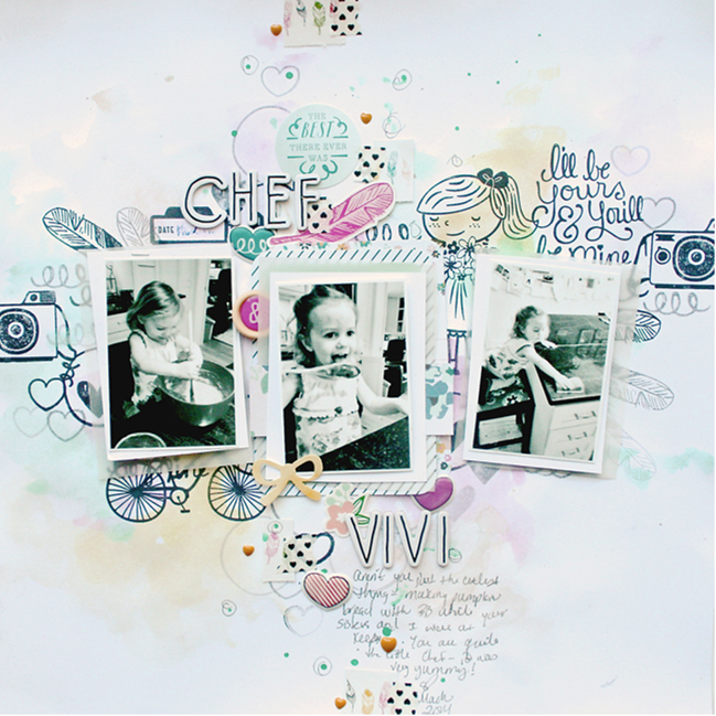 making your own patterned paper:: a scrapbooking tutorial by ashli oliver @ shimelle.com