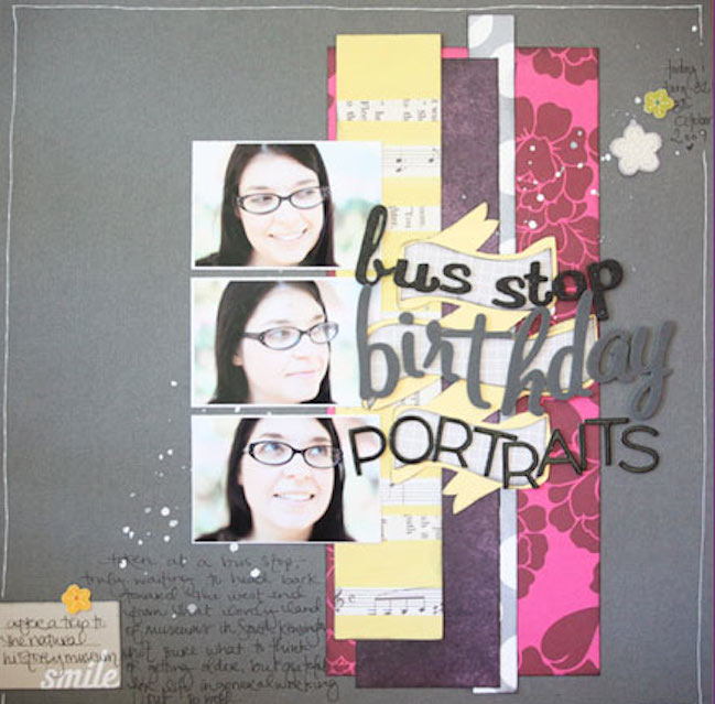 weekly scrapbook challenge:: scrapbook paper strips by relly-annett baker @ shimelle.com