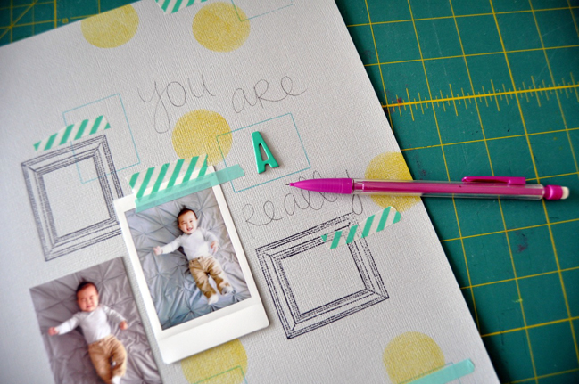 combining techniques:: a scrapbook tutorial by amy tangerine @ shimelle.com
