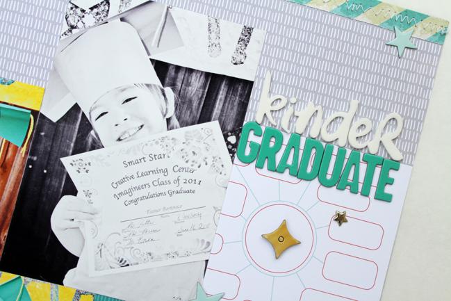 graduation scrapbook page @ shimelle.com