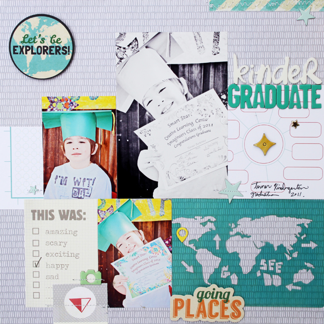graduation scrapbook page by gina lideros @ shimelle.com