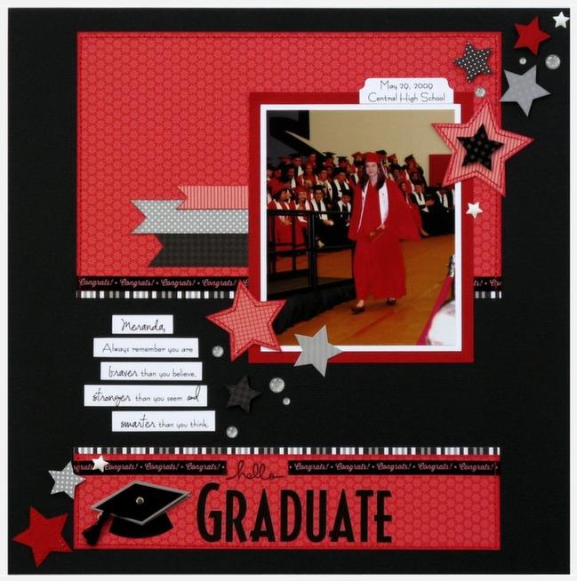 graduation scrapbook page by mendi yoshikawas @ shimelle.com