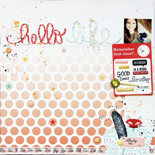 scrapbooking with mist or ink by Celine Navarro @ shimelle.com