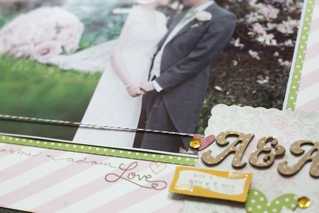 wedding scrapbook page by shimelle laine @ shimelle.com