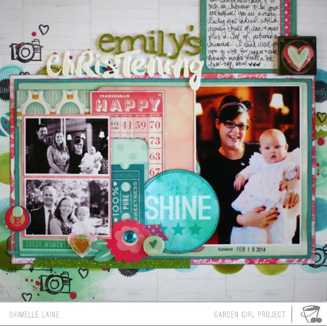 scrapbooking with mist & ink @ shimelle.com