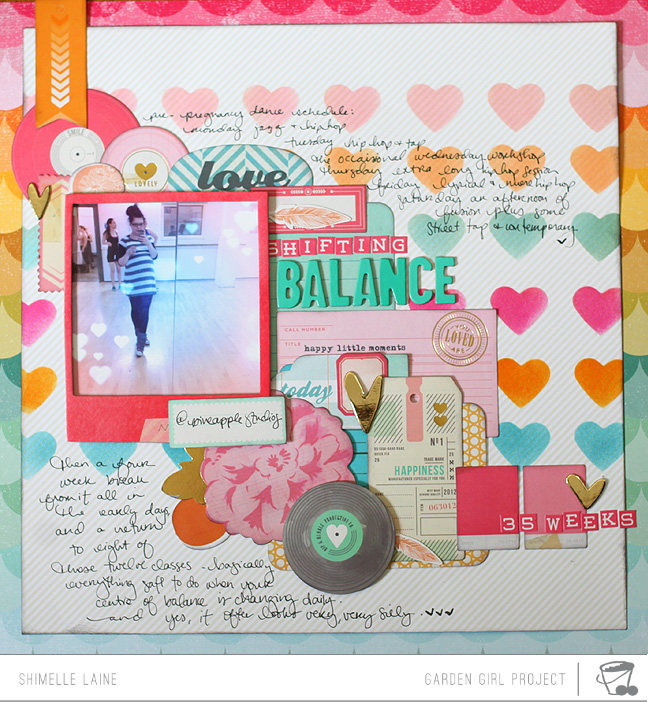 scrapbooking with pink colour schemes by shimelle laine @ shimelle.com