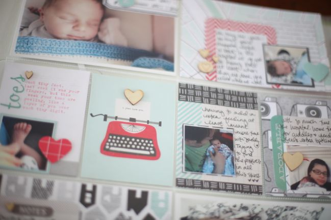 starting a baby album with project life @ shimelle.com