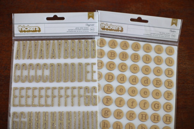 thickers letter stickers from the Shimelle collection by American Crafts @ shimelle.com