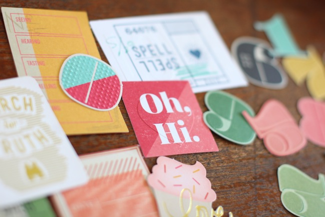 texture on die cuts from the Shimelle collection by American Crafts @ shimelle.com