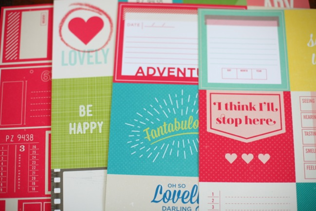 cut apart papers from the Shimelle collection by American Crafts @ shimelle.com