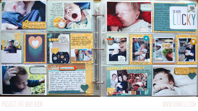 project life baby scrapbook by shimelle laine @ shimelle.com