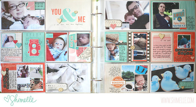 project life baby book with supplies from the shimelle collection by american crafts @ shimelle.com