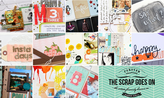 the scrap goes on :: a weekly round-up of scrapbooking craftiness
