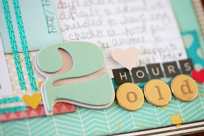 weekly challenge :: make your journaling the heart of your scrapbook page // scrapbook page by Shimelle Laine