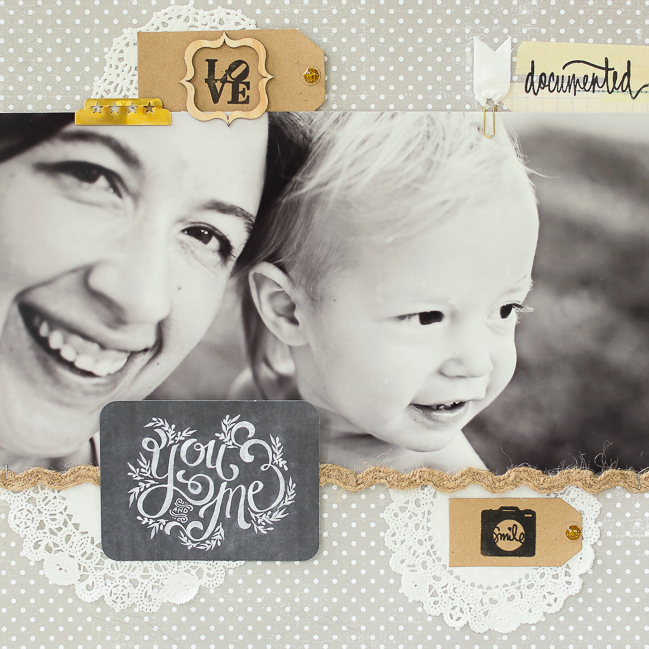 creative layouts featuring large photos:: a scrapbooking tutorial by naomi atkins @ shimelle.com