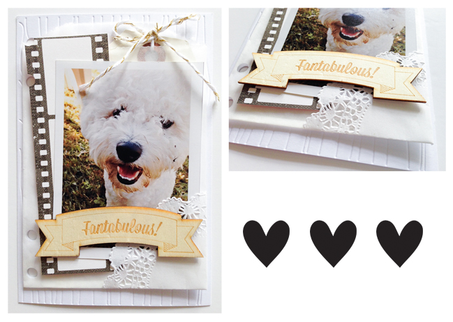 creating a layered mini album page:: a scrapbooking tutorial by stephanie baxter @ shimelle.com