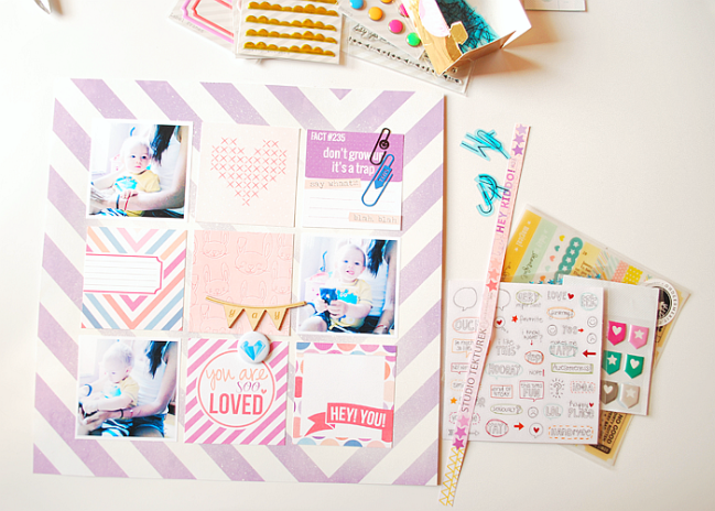 all things colour:: a scrapbooking tutorial by ewa kujawska @ shimelle.com