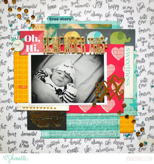 baby scrapbook page by shimelle laine @ shimelle.com