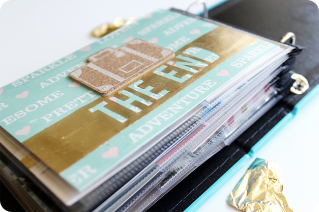 gold leaf:: a scrapbooking tutorial by carrie elias @ shimelle.com