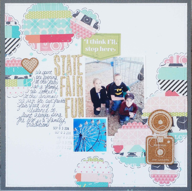 five ideas for scrapbooking with shimelle patterned paper by Becki Adams @ shimelle.com