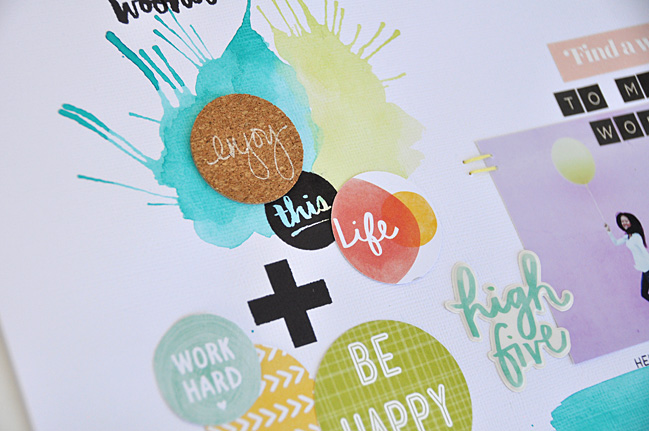 mixing amys stitched papers with shimelle stickers:: a scrapbooking tutorial by amy tangerine @ shimelle.com