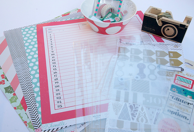 christmas planners: a scrapbooking tutorial by cara vincens @ shimelle.com