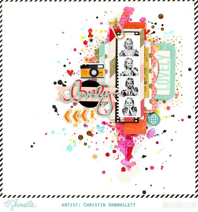scrapbook page by Christin Grønnslett @ shimelle.com