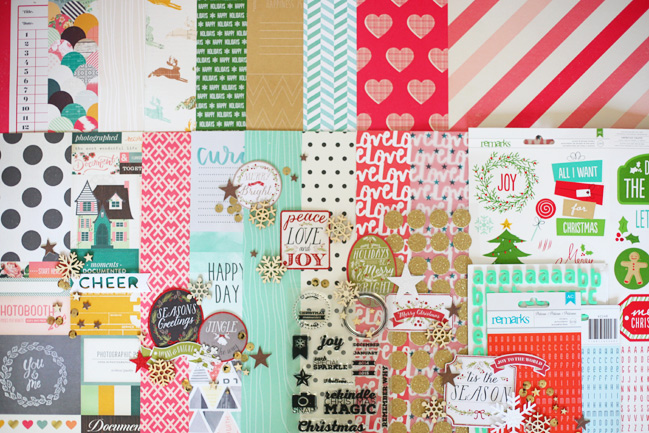 Christmas in a Box scrapbooking kit for 2014 @ shimelle.com
