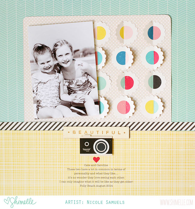 scrapbook page by Nicole Samuels @ shimelle.com