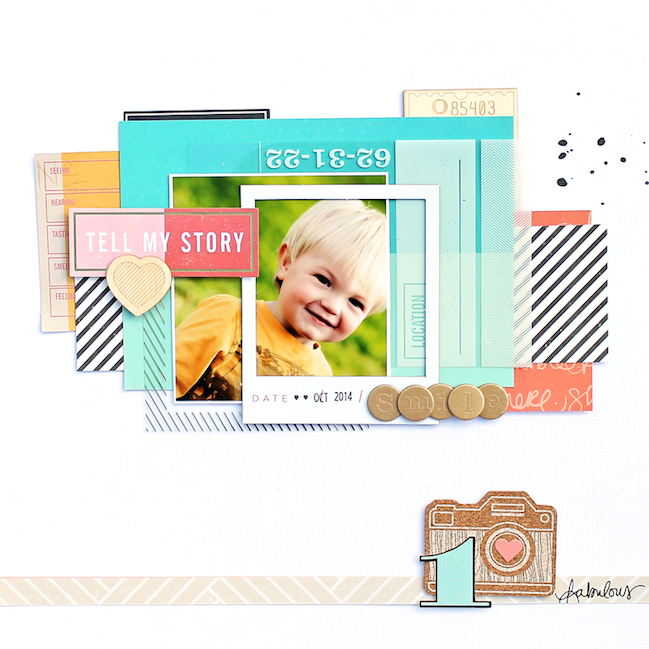 five ideas with photo overlays by Angie Gutshall @ shimelle.com