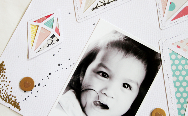 five idea for scrapbooking with creative titles by gina lideros @ shimelle.com