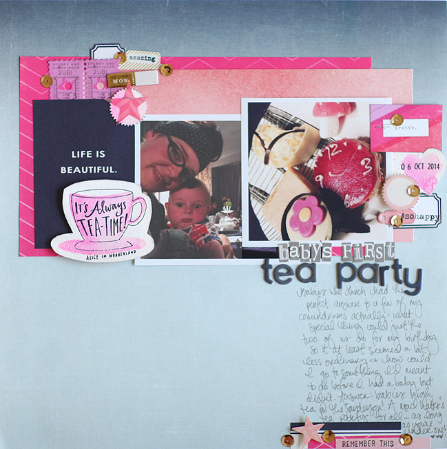 Cut, Stick, Stamp :: Card & Scrapbooking Ideas for a Teacup Stamp by Shimelle Laine @ shimelle.com