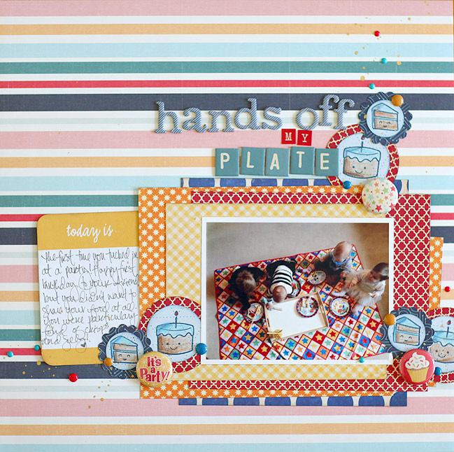 scrapbook page by shimelle laine @ shimelle.com - process video in post