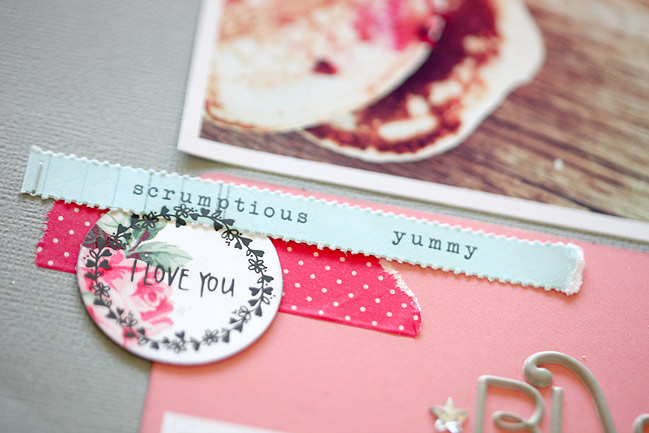 Thoughts on nearing the end of a scrapbooking kit @ shimelle.com