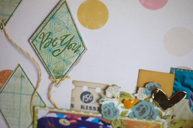 Cut, Stick, Stamp :: Card & Scrapbooking Ideas for a Springtime Kite Stamp Set @ shimelle.com