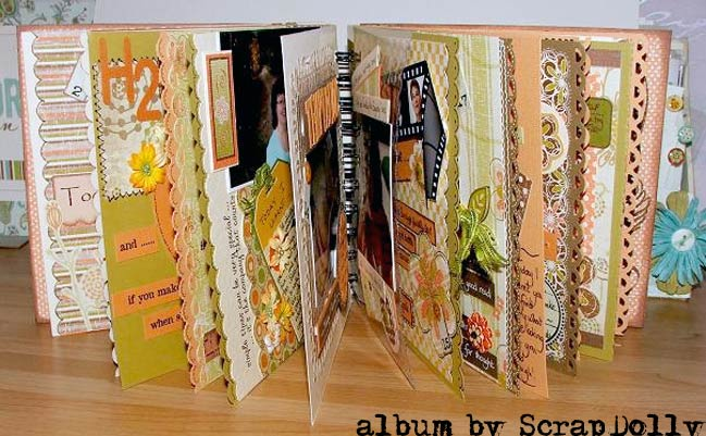 finished scrapbook by ScrapDolly