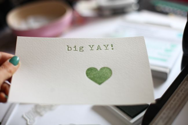 how to use letterpress plates with the big shot @ shimelle.com