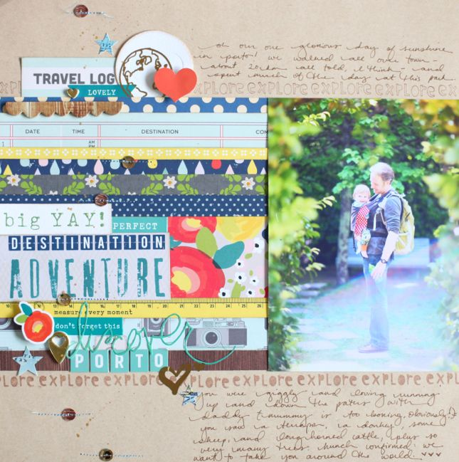 colour story - scrapbook page by Shimelle Laine