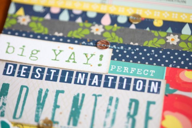 scrapbook page with letterpress plates @ shimelle.com