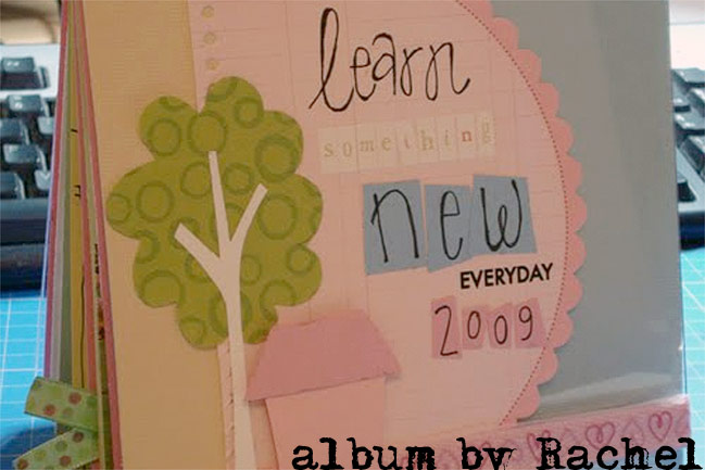 finished scrapbook by Rachel