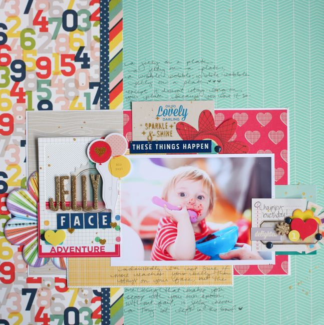 scrapbooking with old and new supplies @ shimelle.com
