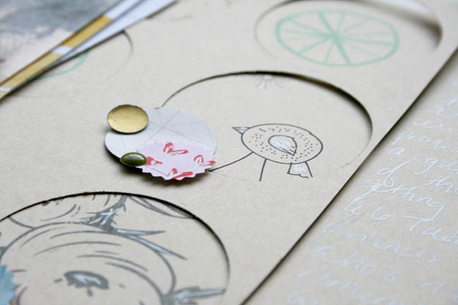 Circular scrapbooking inspiration by ashli oliver