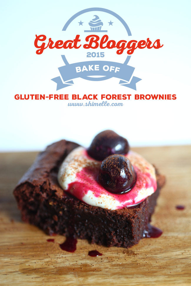 Gluten-Free Black Forest Brownies inspired by the Great British Bake Off @ shimelle.com