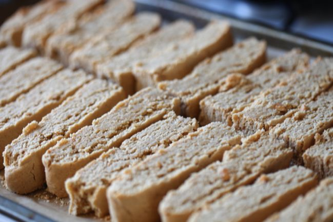 Gluten-free Peanut Butter & Chocolate Biscotti - inspired by the Bake Off! @ shimelle.com