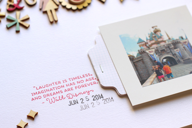 From Inked Hearts to Painted Wood Veneer :: Scrapbooking with guest Nancy Damiano @ shimelle.com