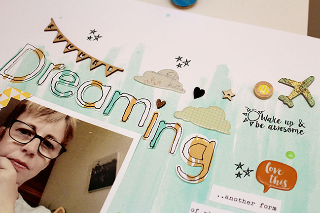 Inspired to Scrapbook with Mists by Sian Fair @ shimelle.com